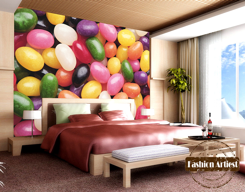 Custom modern 3d wallpaper mural kids color candy color stone wall tv sofa bedroom living room cafe bar restaurant setting wall in wallpapers from home