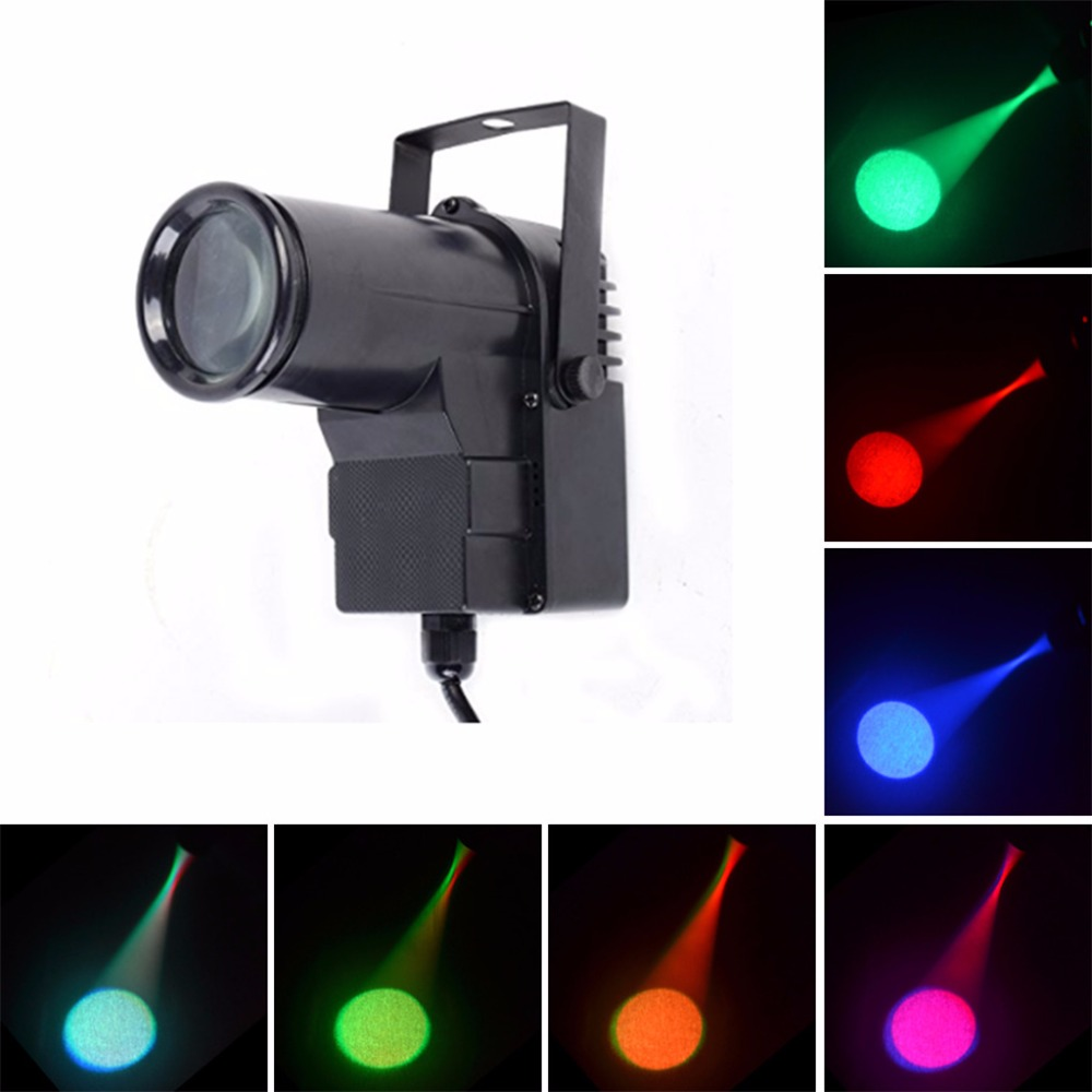 AUCD Mini 10W RGBW 4 in 1 LED Pinspot Spotlight Disco Store DMX Beam DJ Party Show Projector Wedding Stage Lighting LE-M512