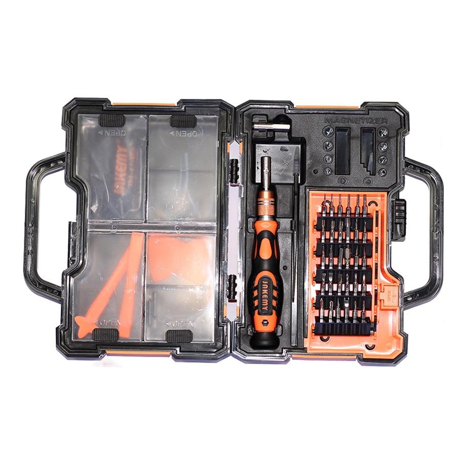 Portable Professional JM-8152 Precise Screwdriver Set Repair Tool Kit mobile phone repair tools with toolbox tweezers bits professional customized precise