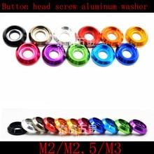 50 шт M2 M2.5 M3 красочные алюминиевые чашки головы шайба для кнопки головки винта
