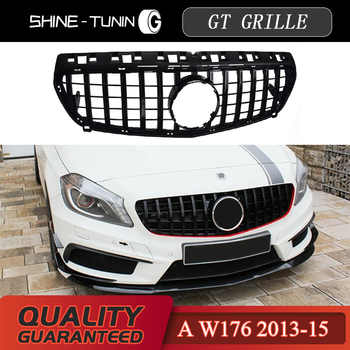 Front grille Suitable for mercedes A Class W176 A45 GT GTR Grill A45 A180 A200 A260 Grille 2013-15 without emblem - DISCOUNT ITEM  6 OFF Automobiles & Motorcycles