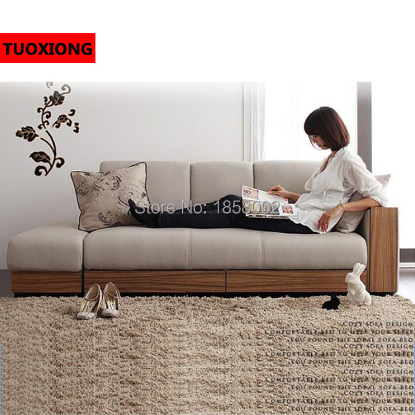 Soft Sofa Bed Living Room Furniture Set Folding Sleeping Beds An Style Fabric