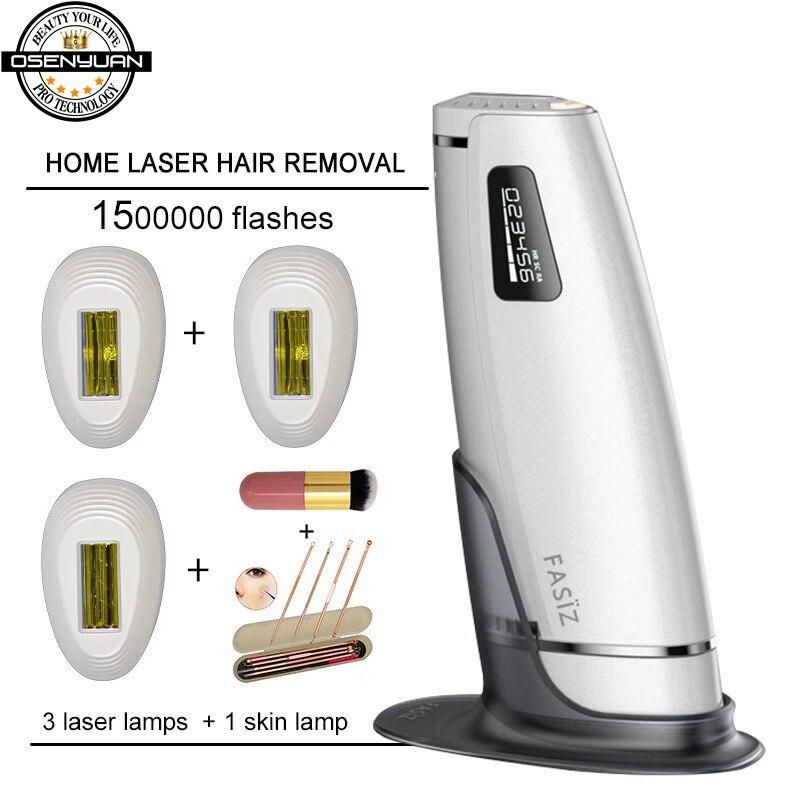 Mais novo 4in1 1500000 pulsado dispositivo de remoção do cabelo a laser ipl remoção permanente do cabelo ipl depilador a laser axila máquina de remoção do cabelo