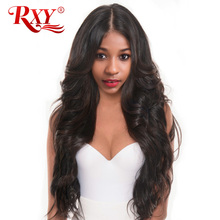 RXY 150% Density Body Wave Full Lace Human Hair Wigs For Black Women Brazilian Wig With Baby Hair Pre Plucked Hairline Non-Remy