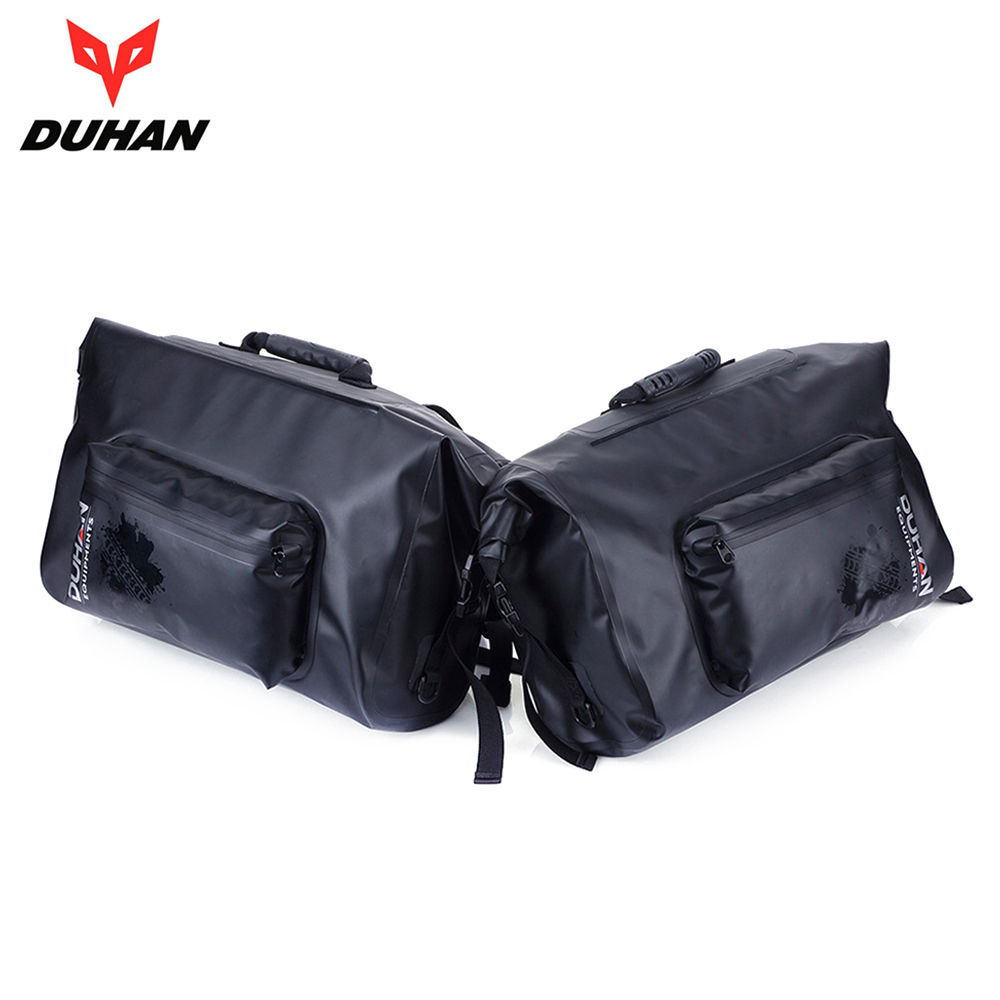 DUHAN Motorcycle Bag Waterproof Motorcycle Luggage Bags Travel Touring Tool Tail Saddle Bags Moto Multifunction Side Bag, 1 Pair pro biker motorcycle saddle bag pattern luggage large capacity off road motorbike racing tool tail bags trip travel luggage