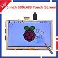 5 Polegada 800x480 HDMI TFT LCD Tela Sensível Ao Toque para Raspberry PI Modelo 3/2 B/B +/A +/B