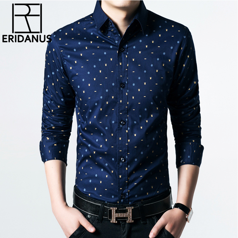 New Autumn Men Long Sleeved Shirt Fashion Assorted Printing Casual Shirt High Quality Slim Fit Brand Clothing Plus Size 5XL M538