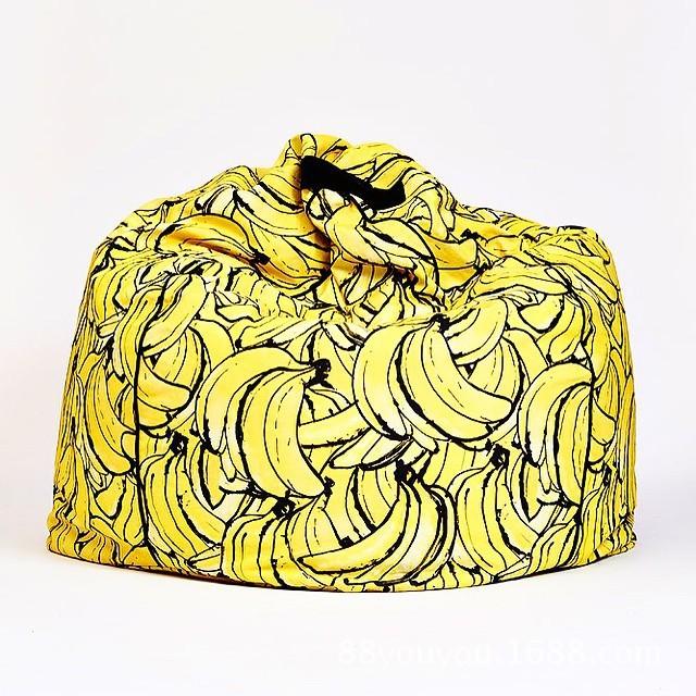 Encantador Dos Desenhos Animados Mini Banana Sofá do Saco de Feijão Do Bebê Cama Com Enchimento Beanbag Cadeira Criança Crianças Cadeiras E Sofás Camas Da Criança Meninas 1 pcs