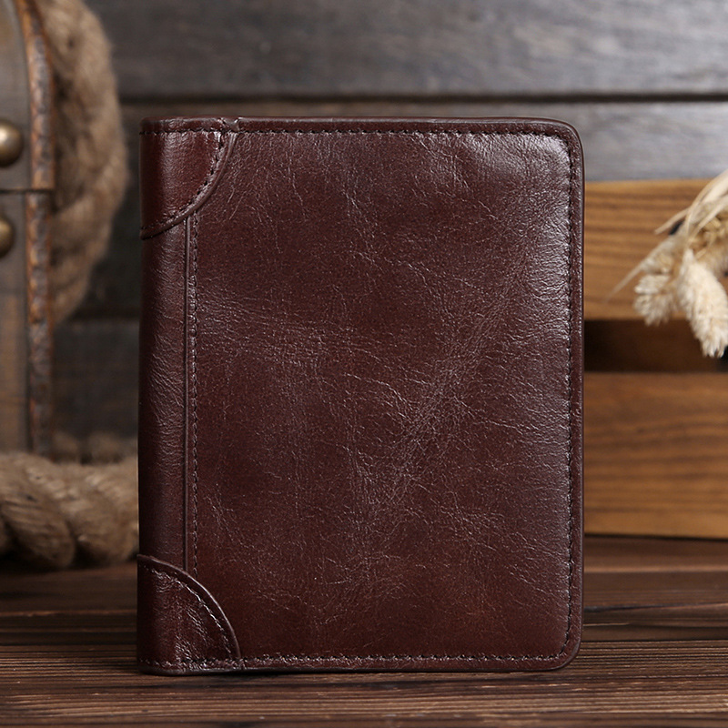 hot sale!!! Genuine Crazy Horse Cowhide Leather Men Wallet Short Coin Purse Small Wallet Brand High Quality Vintage Designer 2017 genuine cowhide leather brand women wallet short design lady small coin purse mini clutch cartera high quality