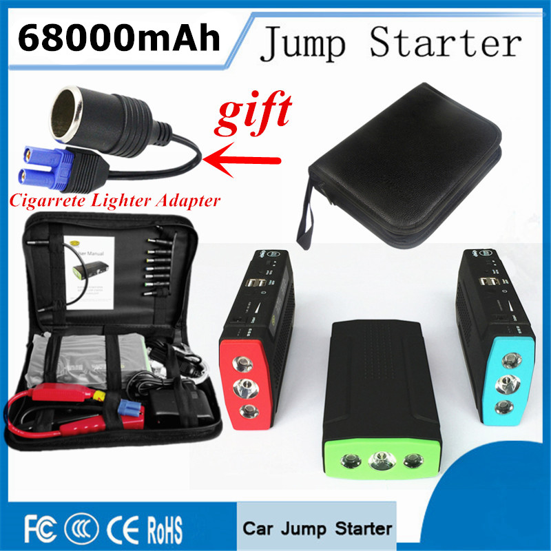 2017 Starting Device Portable 68000mAh Car Jump Starter Power Bank 12V Car Charger For Car Battery Booster Diesel Buster Starter starting device diesel car jump starter 800a pack portable starter power bank charger for car battery booster buster lighter 12v