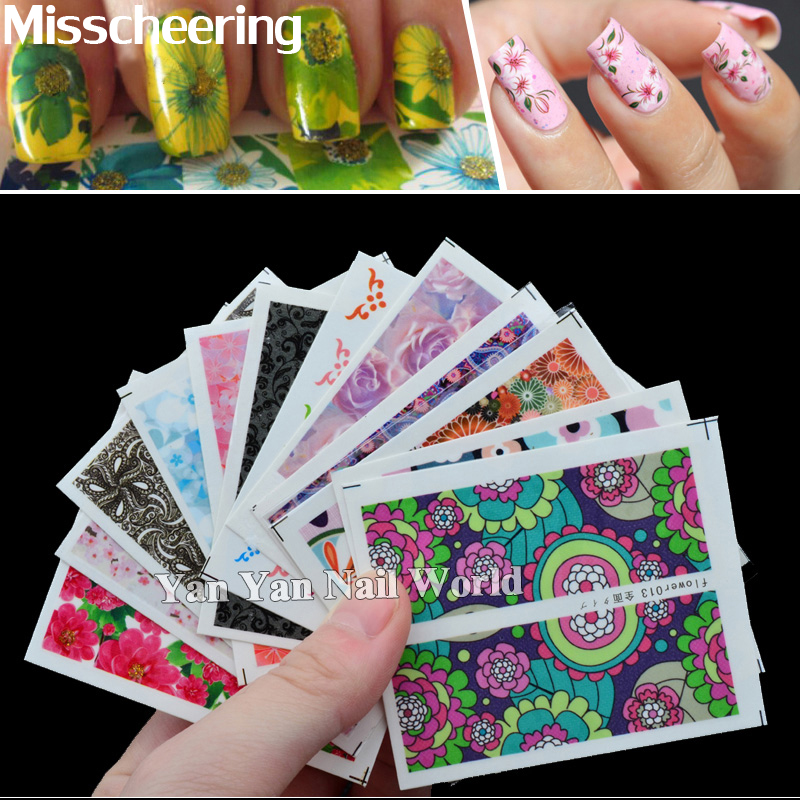 50 sheets/pack New Nail Art Water Transfer Mixed Design Sticker Watermark Decals DIY Decoration for Nail Beauty Tools 398 sheets mix flower christmas water transfer nail art sticker watermark decals tip decorations tools manicure