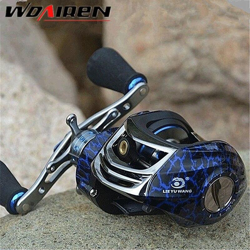 WDAIREN Brand Baitcasting Reel Fishing reel 14BB 6.3:1 Fishing Gear Water Drop Wheel Bait Casting Lure Reel LYW-4
