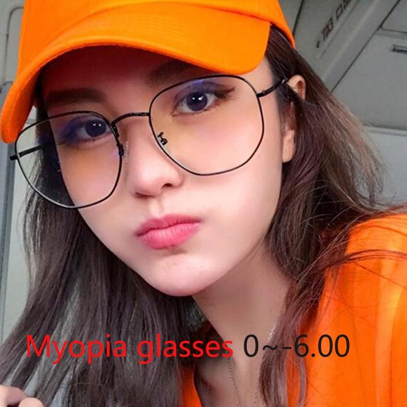 SchöN 1,56 Asphärische Großen Rahmen Fertig Myopie Gläser Mit Grad Student Myopie Brillen Frauen Männer-1-1,5-2,0 -2,5 Zu-6,0 Wir Haben Lob Von Kunden Gewonnen