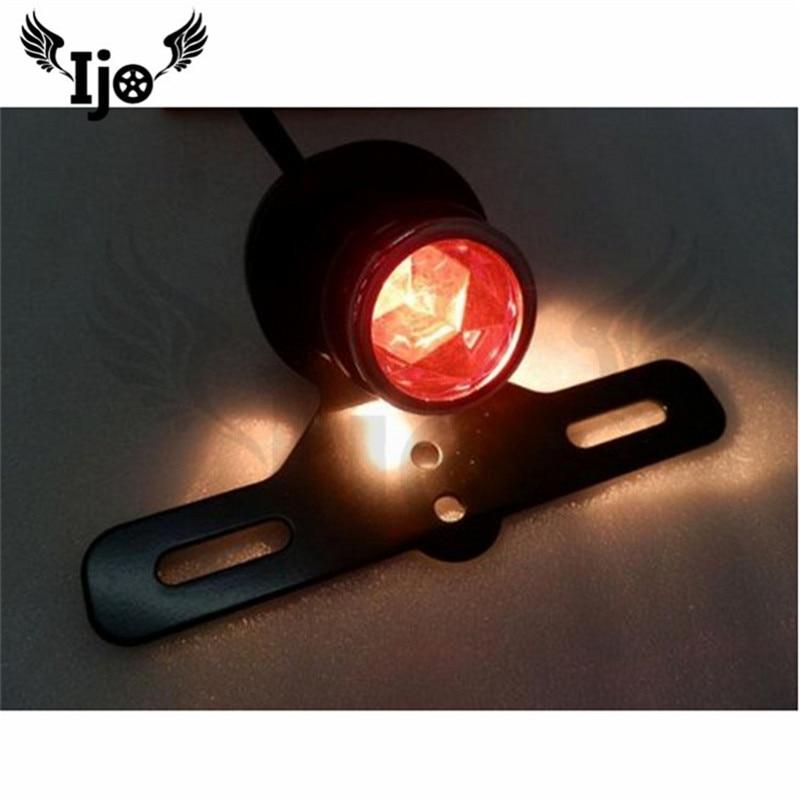 black retro motorcycle tail light for harley lamp amber motorbike brake light moto rear indicator blinker scooter accessories