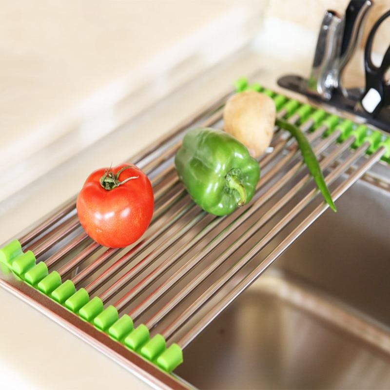 ���2 Sizes Vegetable Drainer '� Shelf Shelf Stainless Steel