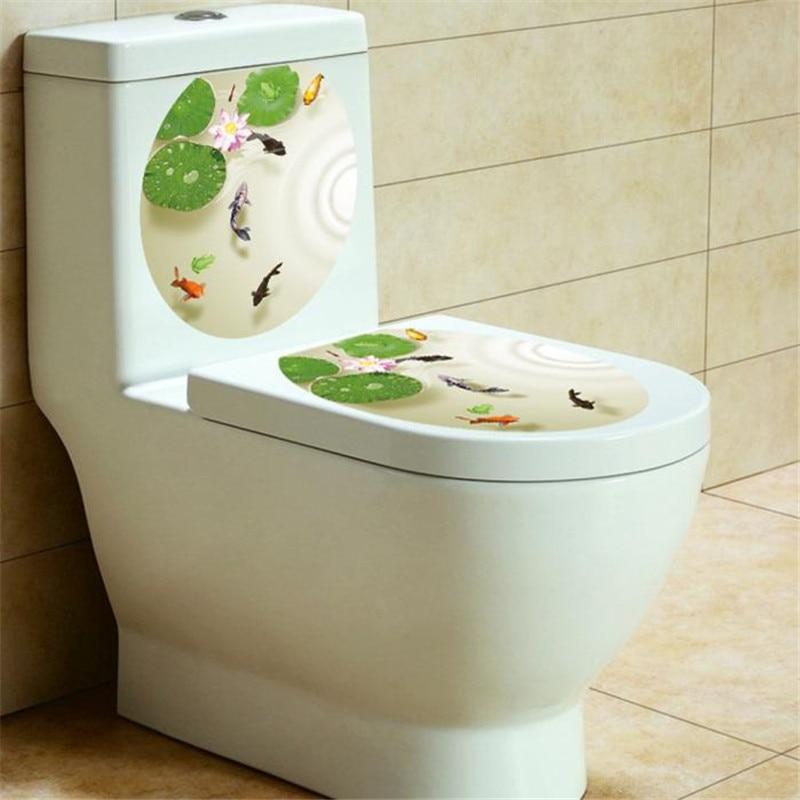drop Shipping 33*39CM Toilet Seat Wall Sticker Decals Vinyl Art Removable Decor Home Decal adesivos de paredes D38JL19