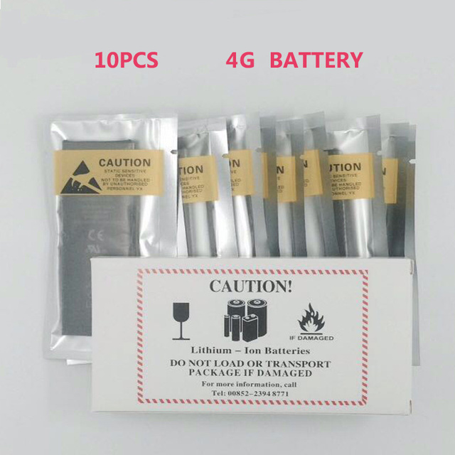 10pcs/lot Original Quality Battery for iPhone 4 4G 1420mAh 3.7V Genuine 0 zero cycle replacement repair parts