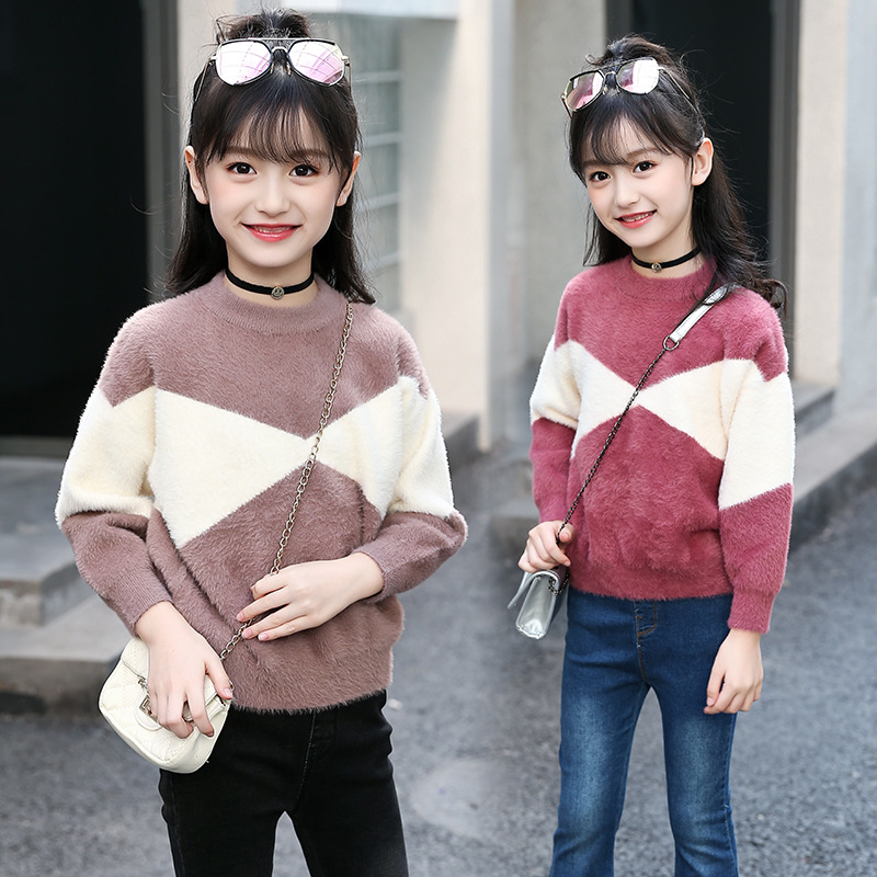 2018 Knit Sweater For Girls 5 6 7 8 9 10 11 12 13 Years Girls Long Sleeve Tops Big Girls Christmas Sweater Teenager Kids Clothes seiko sndg61p1