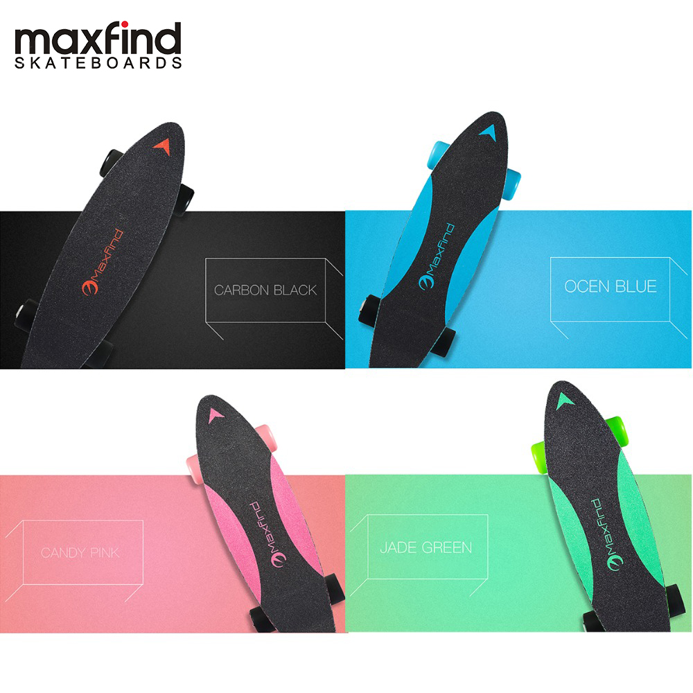 Lowest Price Maxfind 3.7 Kg Most Portable Hub Motor Remote Electric Skateboard With Samsung Battery