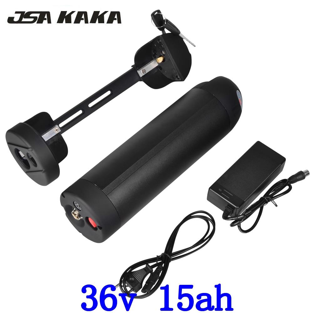 E Moto-Bateria 36 v 15AH uso Da garrafa de Água para Panasonic 36 célula de Bateria li-ion 18650 v 500 w e-Bicicleta chaleira bateria com o Carregador