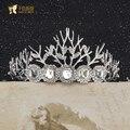 Серебристо-синий корона невесты невесты Корейский Стразы свадебные фотографии свадьба Наследной Принцессы аксессуары для волос