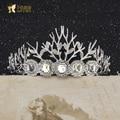 A silvery blue crown bride bride Korean Rhinestones wedding photography wedding Crown Princess hair accessories