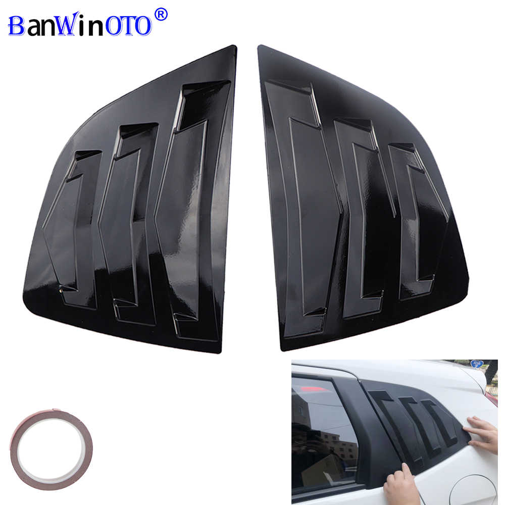 2 stks/set Achter Kwart Venster Lamellen Spoiler Panel Voor Honda Fit Jazz Hatchback 2014-2018 Panel Decoratie Motorkap Vent sticker
