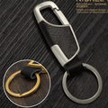 Car-Styling Metal Key Ring Cowhide KeyChain For  Volkswagen vw Jetta Tiguan POLO Passat CC Golf GTI R20 R36 EOS Scirocco