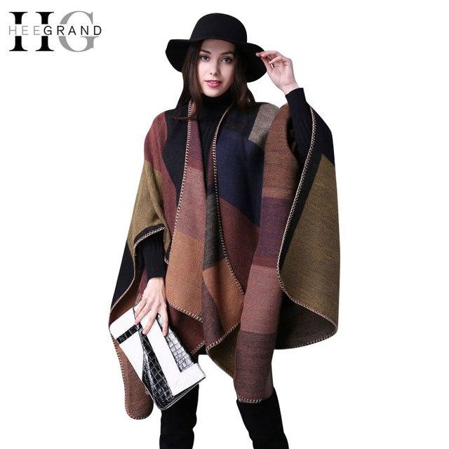 Hee grand fashion knit chal manta cachecol bufanda del abrigo de las mujeres de la vendimia estrellas de impresión otoño invierno leopard bufandas y estolas woz060