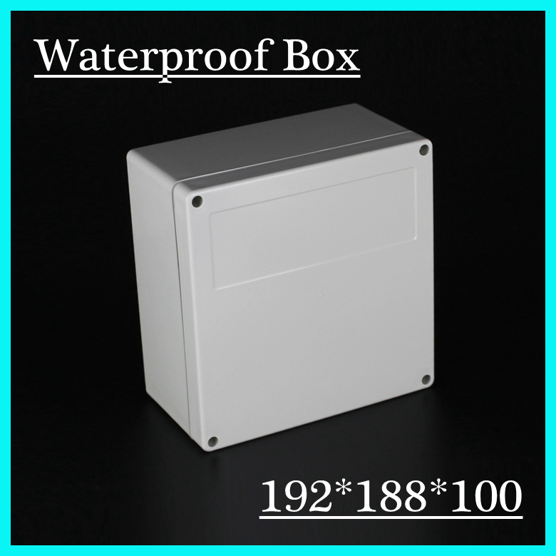 N94 192*188*100MM Waterproof Grey Cover Plastic Electronic Project Box Enclosure CASE 4pcs a lot diy plastic enclosure for electronic handheld led junction box abs housing control box waterproof case 238 134 50mm