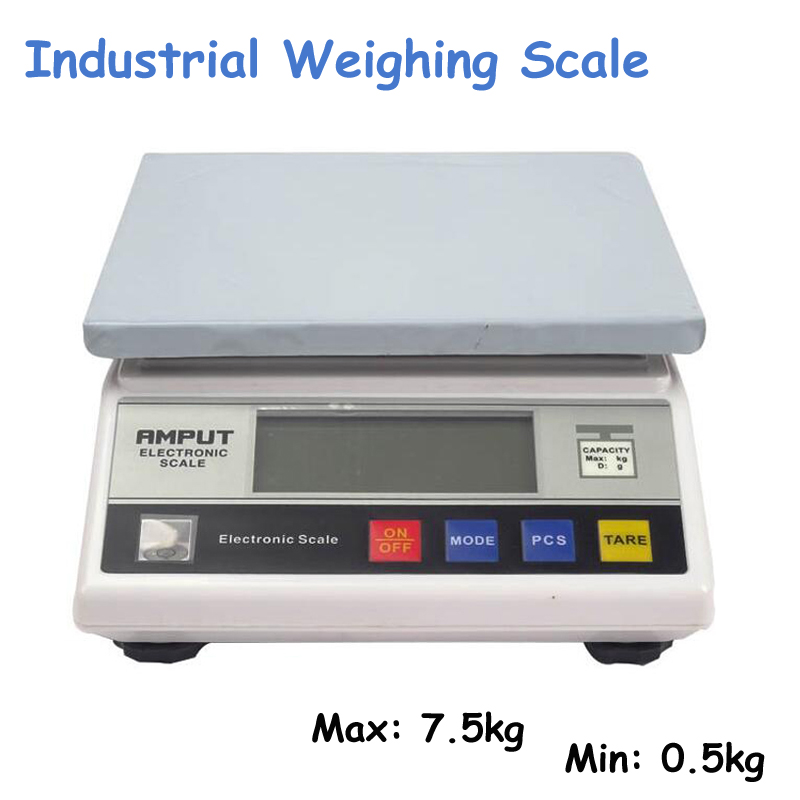1pc 7.5kg x 0.1g Digital Precision Industrial Weighing Scale Balance Counting Table Top Scale Electronic Laboratory Balance 457A electronic scale ves 50a precision of the cold media is called quantitative fluorine balance scale refrigeration tools 1pc