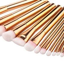15pcs Rose Gold Green Purple Makeup Brushes Tools Set Nylon Hair Foundation Blush Powder Concealer Brush Make Up Cosmetic Kit