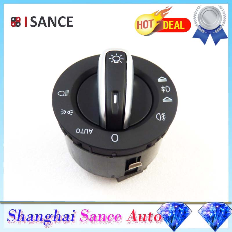 ISANCE Chrome Fog Headlight Control 4F1941531E For Audi A6
