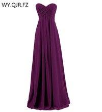 LLY SZ#New 2019 winter ball gown dark violet bridesmaids dresses Wrap chest bra bride wedding toast dress wholesale custom