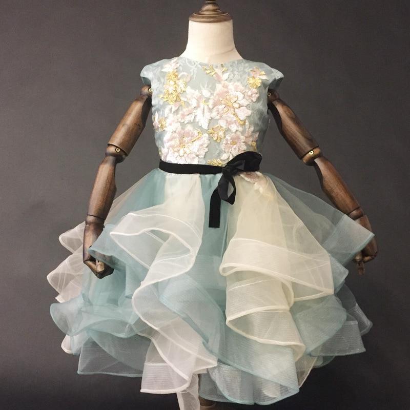 1689 di Lusso Nuovo Vestito della molla di Modo Del Fiore Della Principessa vestito coro show Girl Dress1689 di Lusso Nuovo Vestito della molla di Modo Del Fiore Della Principessa vestito coro show Girl Dress