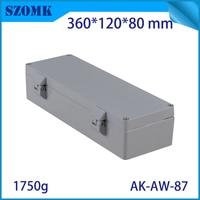 Aluminum Waterproof Connectors Distribution Box for Electronics Diy Design Weatherproof Project Case 360x120x80mm Outdoor Use