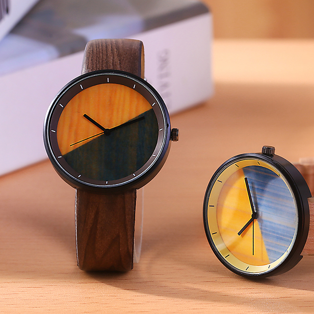 Meibin Simple Wood Grain Quartz Women Watch Casual Women Wrist Watch Fashion Dre