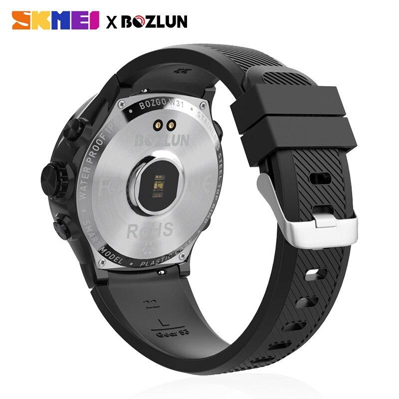 SKMEI hommes Smartwatch numérique Bluetooth Sport montres moniteur de fréquence cardiaque Fitness sommeil Tracker étanche mâle montre bracelet intelligente - 3