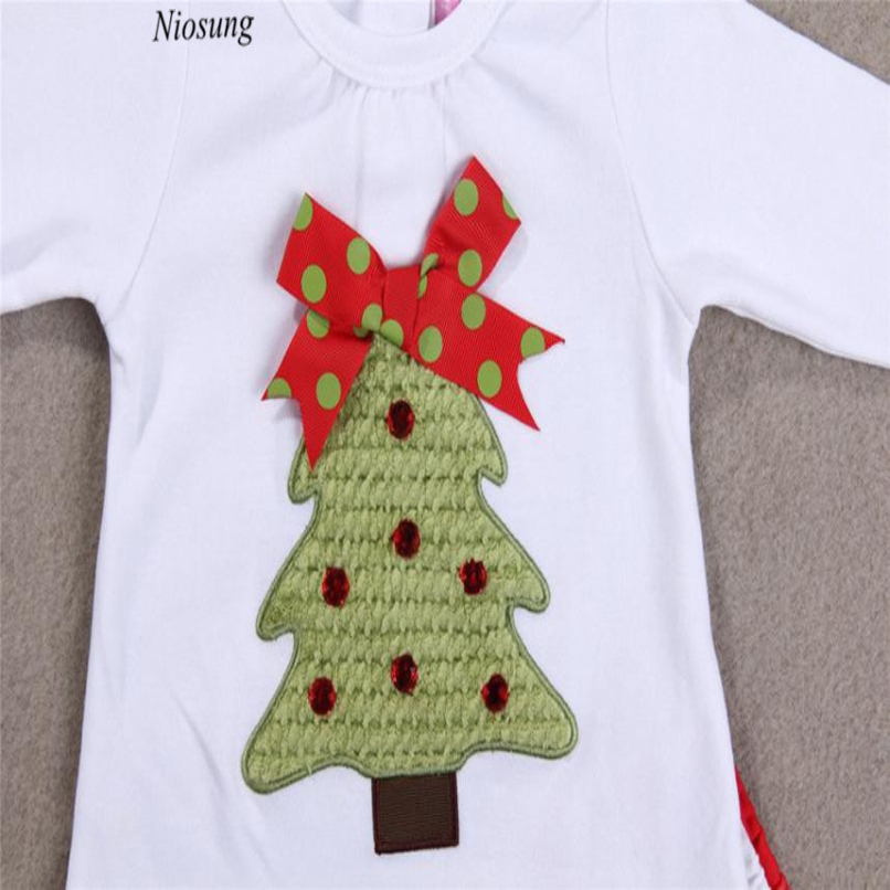 niosung new 1set kids toddler girls christmas trees t shirt topspants outfits clothes children girl christmas outfit party suit in clothing sets from