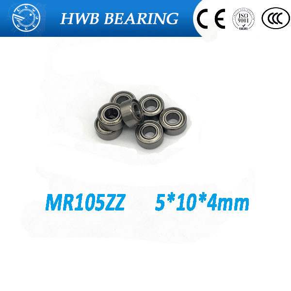 Free shipping 50PCS MR105 ZZ MR105ZZ <font><b>5*10*4</b></font> P6 MR105-2Z mini ball bearing Deep groove ball bearings image