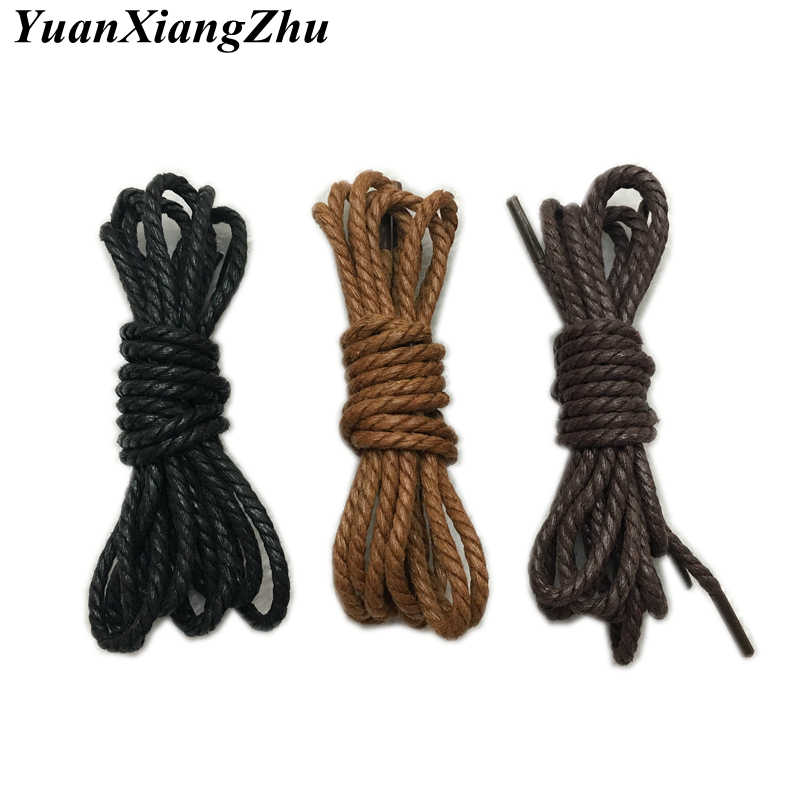 0529a0e7629e High Quality Shoelaces Waterproof Leather Shoes Laces Round Shape Fine Rope  White Black Brown Khaki 120CM