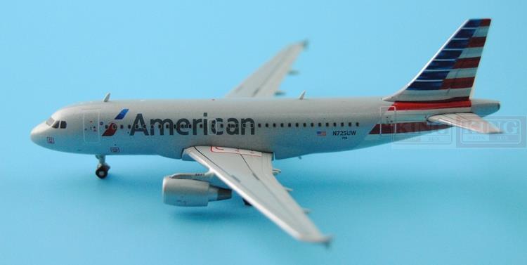 GJAAL1315 GeminiJets American Airlines N725UW 1:400 A319 commercial jetliners plane model hobby