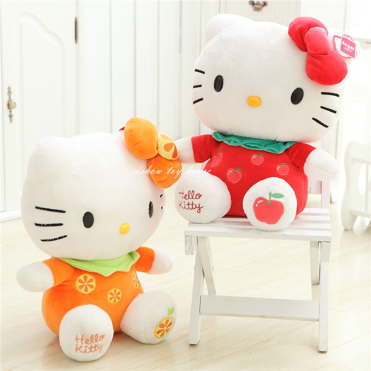 Aliexpress.com  Buy Kawaii Kids Plush Anime Toys Cartoon Character KT Hello Kitty Cute Cat Doll Fruit Series Version Birthday Christmas Gift from Reliable