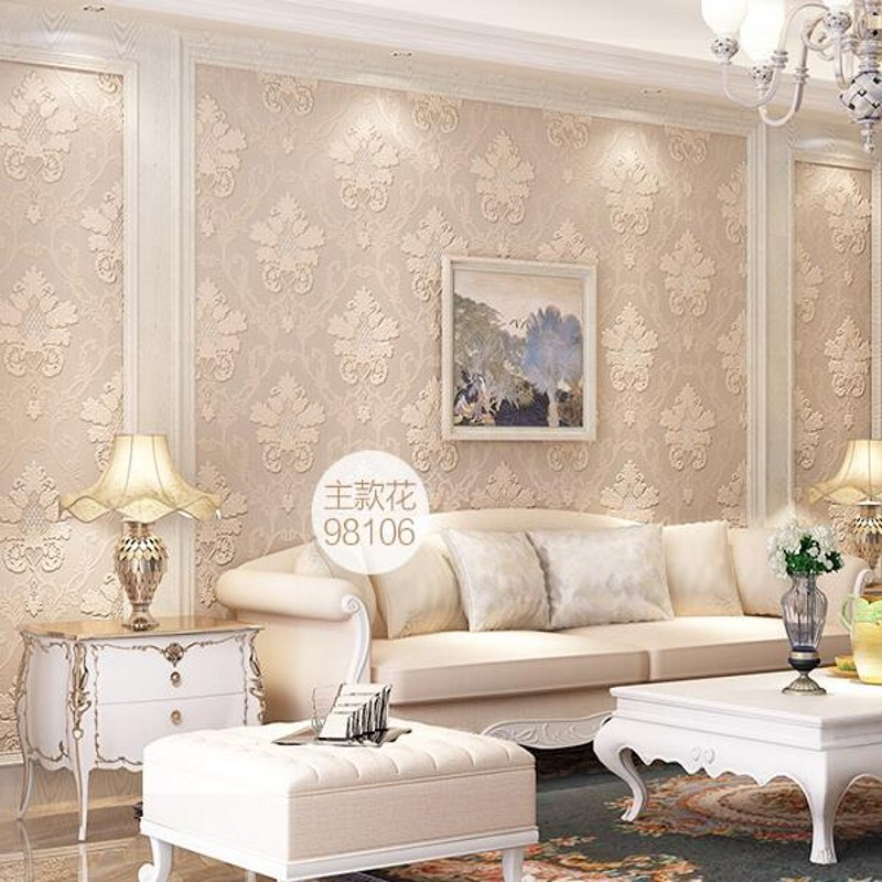 ФОТО  beibehang non-woven wallpaper papel de parede living room TV backdrop Continental AB edition wallpaper embossed decoration