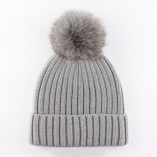 Рождественский подарок для мальчиков и девочек шапка 6 цветов Детская шерстяная одежда Кепки маленьких Обувь для девочек зимняя модная детская одежда шапочка Шапки Обувь для мальчиков сплошной принт bmz43 - Цвет: Gray