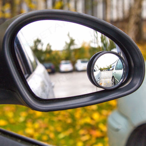 Image 2 - 1 Pair Round Blind Spot Wide Angled Mirror With Adhesive Car Wing Safety HD Rearview Mirrors VS998