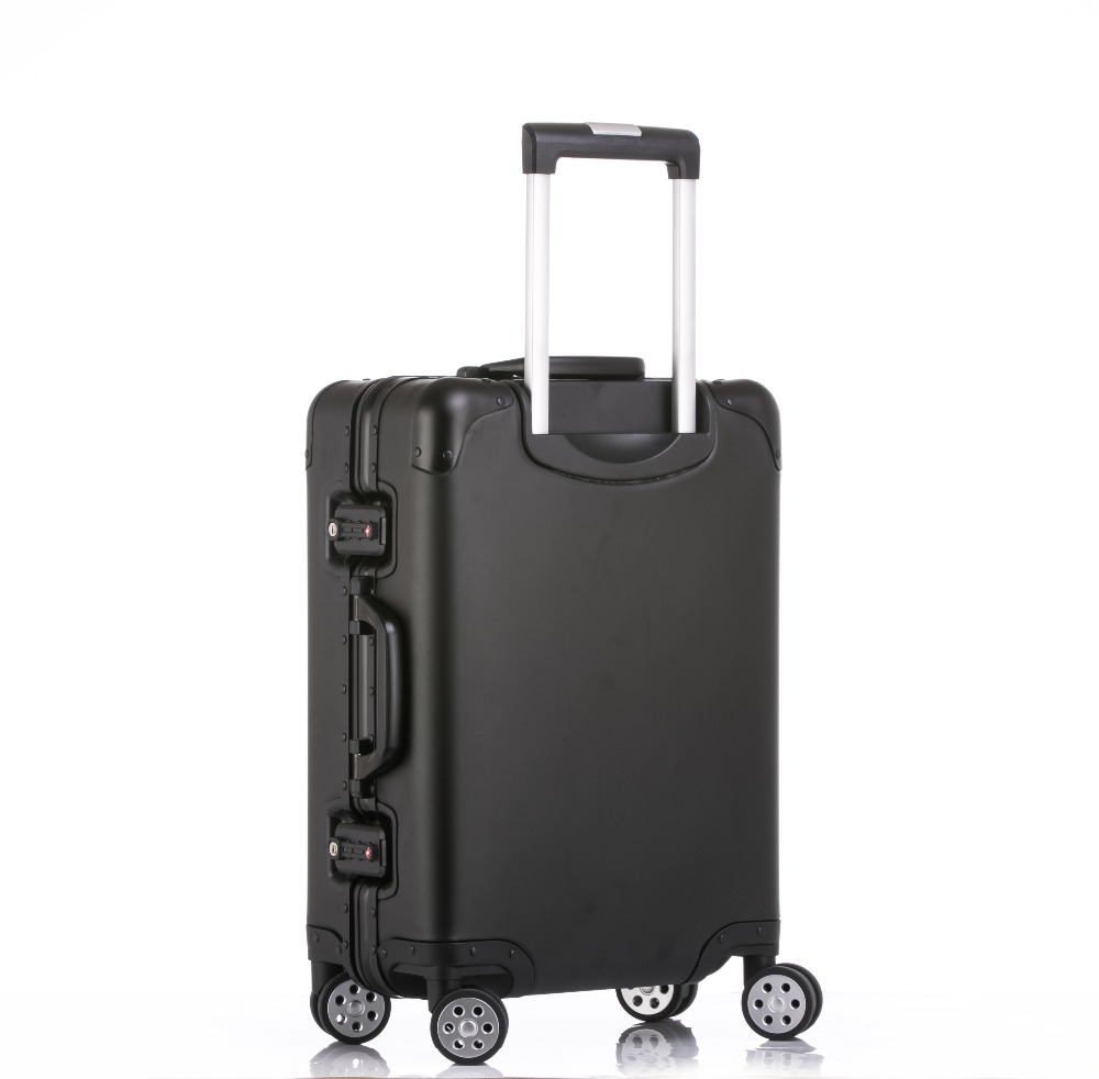 100% Aluminum Alloy Travel Suitcase 20/24/26/29 inch Metal Luggage Fashionable New Type Of Suitcase Rolling Luggage Pull Rod Box купить в Москве 2019