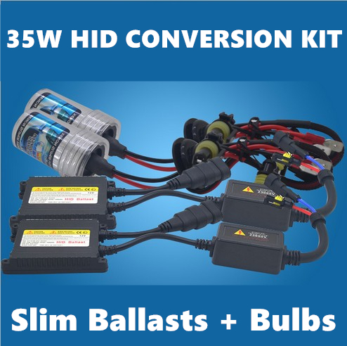 35W H7 Automobile Headlight Xenon Slim HID Conversion Kit Digital Slim Ballast +