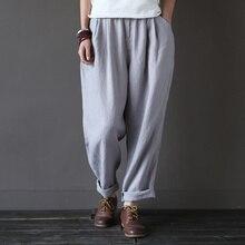 Elastic waist Linen Loose Women Harem Pants 2016 Summer New Casual Brand Pants High quality Plus size Linen Harem Trousers A045