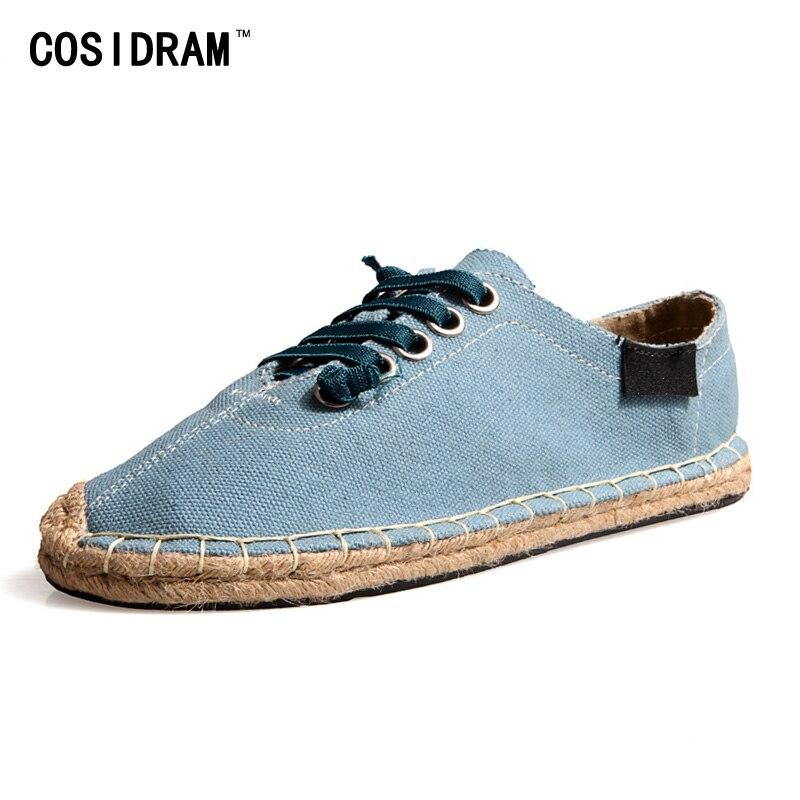 Más el Tamaño 45 Con Cordones Alpargata Hombres Zapatos Casuales Zapatos Transpi